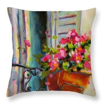 Throw Pillow featuring the painting Escape To France by Chris Brandley