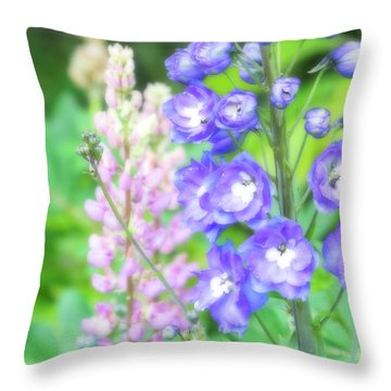 Throw Pillow featuring the photograph Escape To The Garden by Bonnie Bruno
