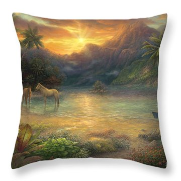 South Pacific Throw Pillows