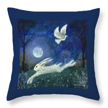 Escape With A Blessing Throw Pillow by Lise Winne
