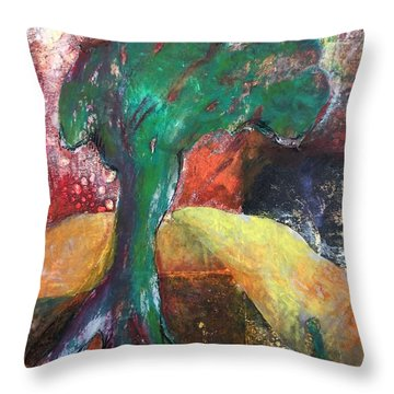 Escaped The Blaze Throw Pillow by Elizabeth Fontaine-Barr