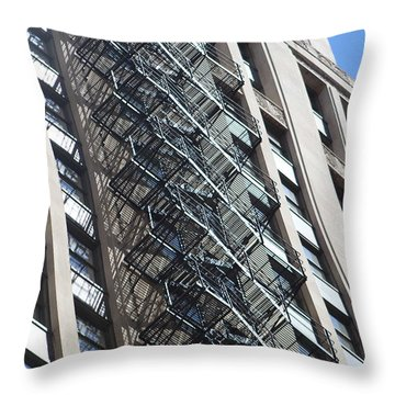 Escaping A Chicago Brownstone Throw Pillow