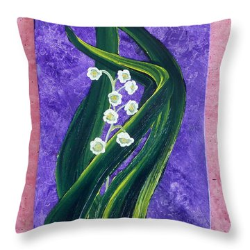 Escaping Winter Lilly Of The Valley Throw Pillow