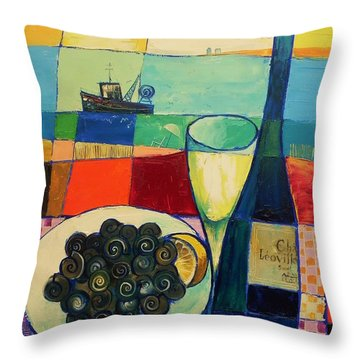 Escargot Throw Pillow
