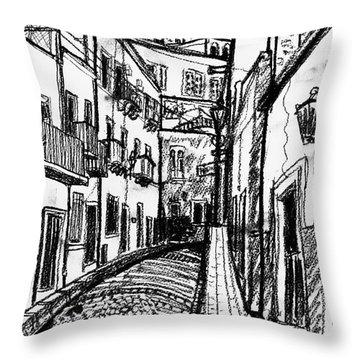 Escuela Mexicana Throw Pillow by Rich Travis