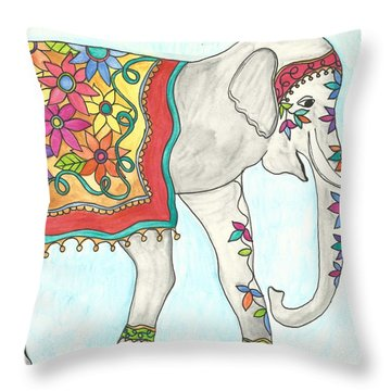 Eshma, Meaning Lucky In English Throw Pillow