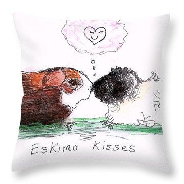 Eskimo Kisses Throw Pillow