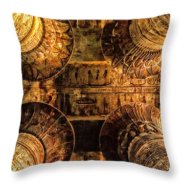 Esna Capitals Throw Pillow