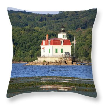 Throw Pillow featuring the photograph Esopus Lighthouse In Summer #4 by Jeff Severson