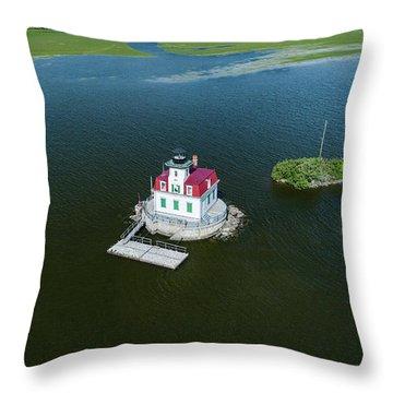 Esopus Lighthouse Throw Pillow