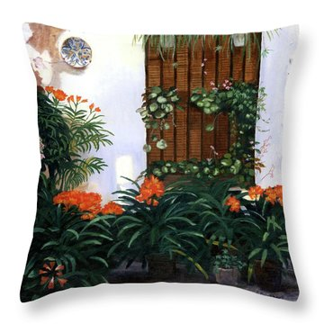 Throw Pillow featuring the painting Espana by Lynne Reichhart