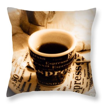 Espresso Anyone Throw Pillow by MaryLee Parker