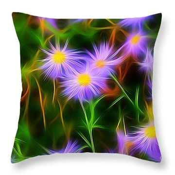 Essence Of Asters Throw Pillow