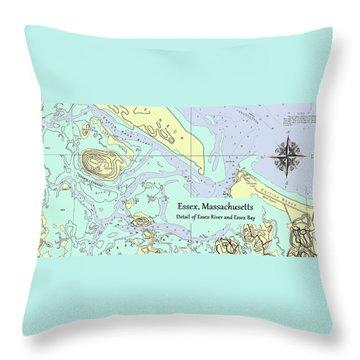 Essex River Detail Throw Pillow