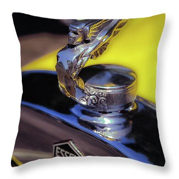 Essex Super 6 Hood Ornament Throw Pillow