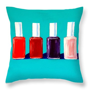 Essie Polish Throw Pillow