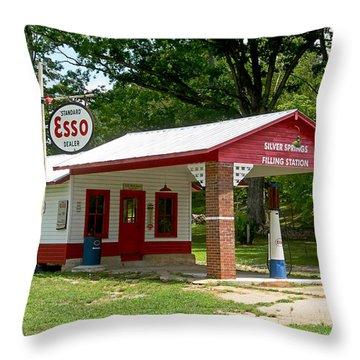 Esso Station Throw Pillow