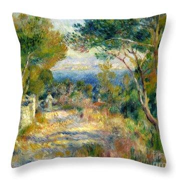 Estaque Throw Pillow by Renoir