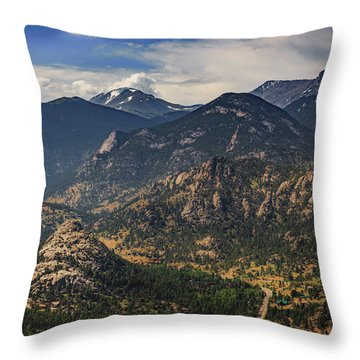 Estes Park Aerial Throw Pillow