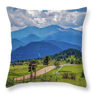 Estes Valley Throw Pillow