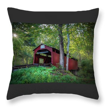 Throw Pillow featuring the photograph Esther Furnace Bridge by Marvin Spates
