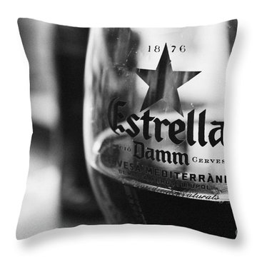Estrella Damm Throw Pillow