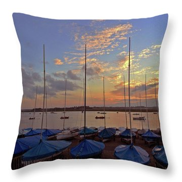 Throw Pillow featuring the photograph Estuary Evening by Anne Kotan