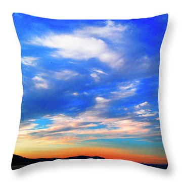 Estuary Skyscape Throw Pillow