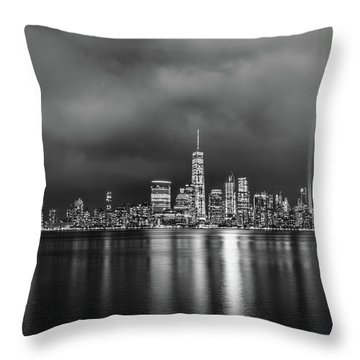 Etched Into The Sky Throw Pillow