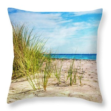 Etchings In The Sand Throw Pillow