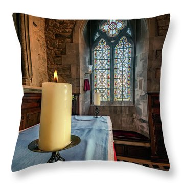 Throw Pillow featuring the photograph Eternal Flame by Adrian Evans