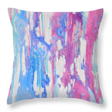 Eternal Flow Throw Pillow by Irene Hurdle