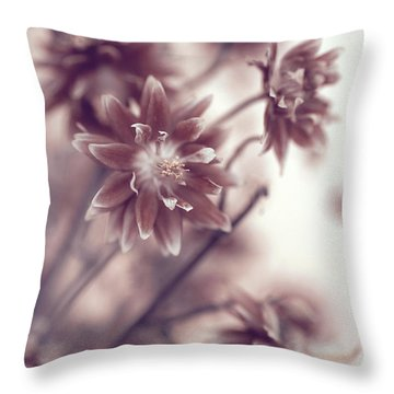 Throw Pillow featuring the photograph Eternal Flower Dreams  by Jenny Rainbow
