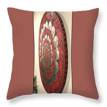 Throw Pillow featuring the painting Eternal Hearts  by James Lanigan Thompson MFA