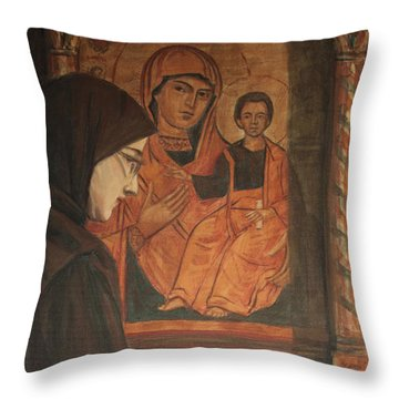 Throw Pillow featuring the painting Eternal Light by Olimpia - Hinamatsuri Barbu