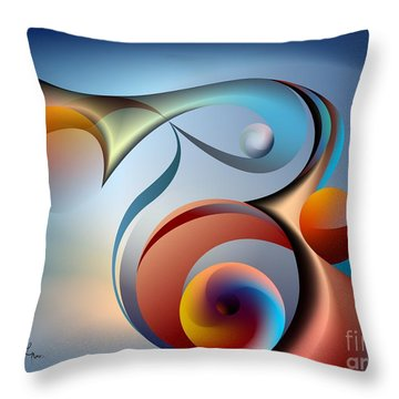 Eternal Movement - Wrapping Throw Pillow by Leo Symon