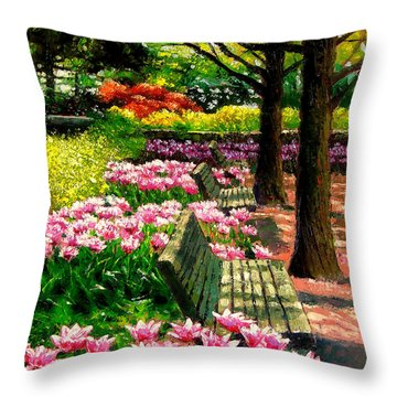 Eternal Spring Throw Pillow by John Lautermilch