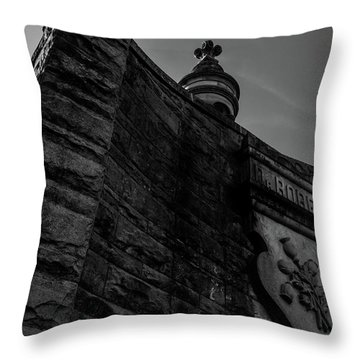 Eternal Stone Structure Bw Throw Pillow