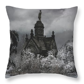 Throw Pillow featuring the digital art Eternal Winter by Chris Lord