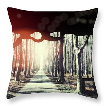 Eternity, Conceptual Background Throw Pillow