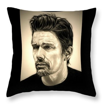 Ethan Hawke Throw Pillow by Fred Larucci