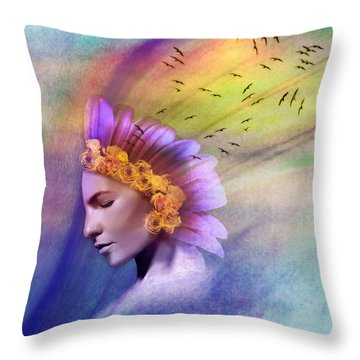 Ether Throw Pillow by Scott Meyer