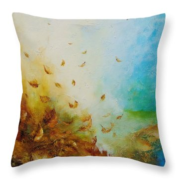 Ethereal Autumn Throw Pillow