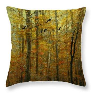 Ethereal Autumn Throw Pillow