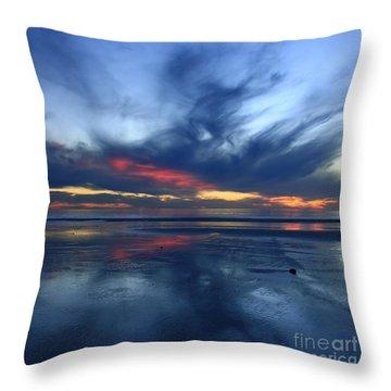 Ethereal Beach Blues Throw Pillow
