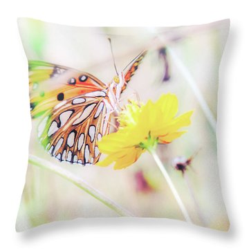 Throw Pillow featuring the photograph Ethereal Butterfly by Andrea Anderegg