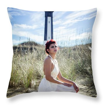 Ethereal Gaze Throw Pillow
