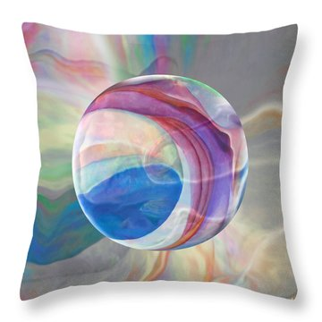 Throw Pillow featuring the painting Ethereal World by Robin Moline