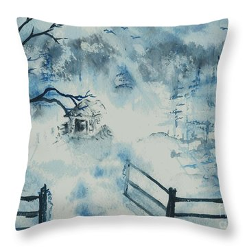 Ethereal Morning  Throw Pillow
