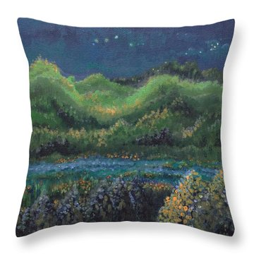 Throw Pillow featuring the painting Ethereal Reality by Holly Carmichael